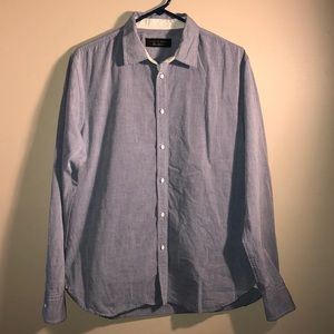 Rag & Bone Blue Button Down Shirt Store Exclusive